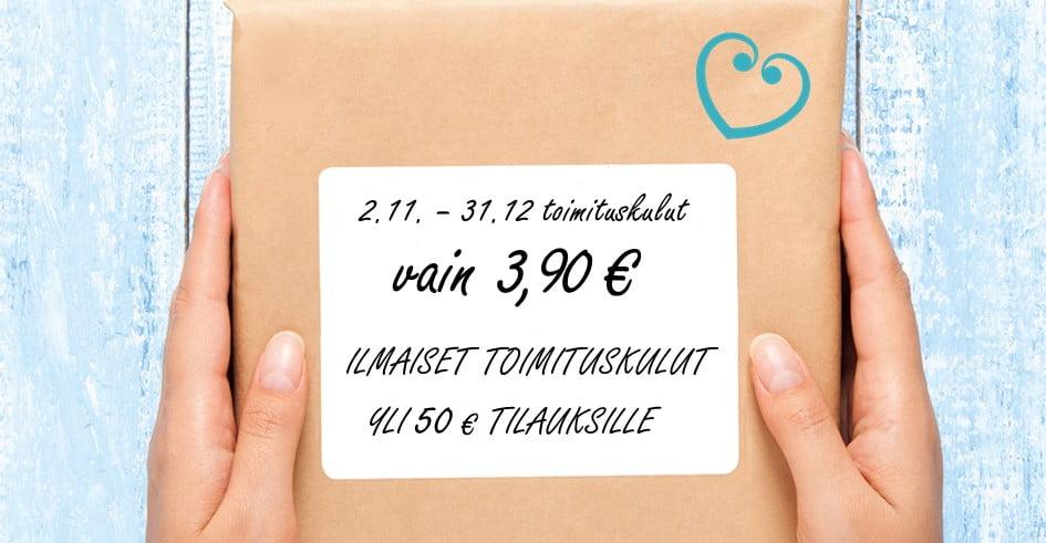 0390kuljetus – Ilmainen toimitus yli 50 €