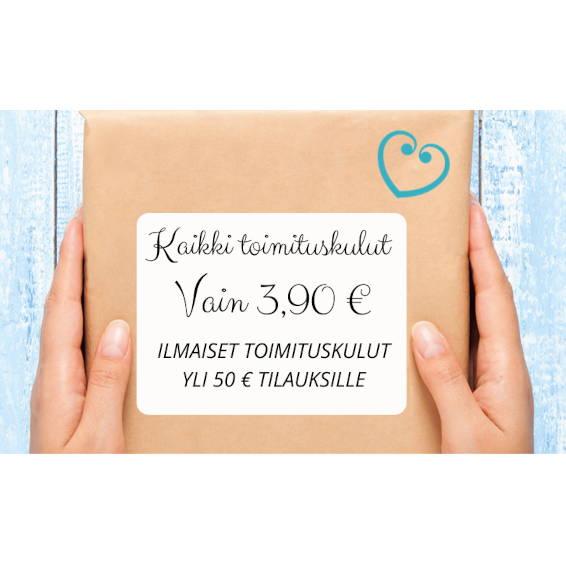 Toimituskulut 3.90 € - Yli 50 € tilaukset veloituksetta!